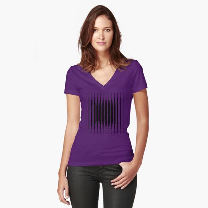 camiseta-mujer-square-lines-geometricarte