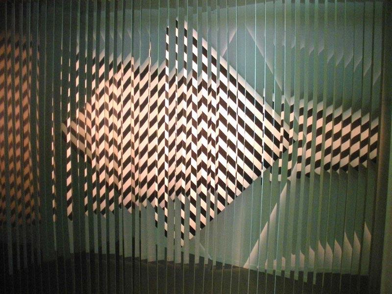 Arte ciinetico Cloison-à-lames-réfléchissantes-geometricarte