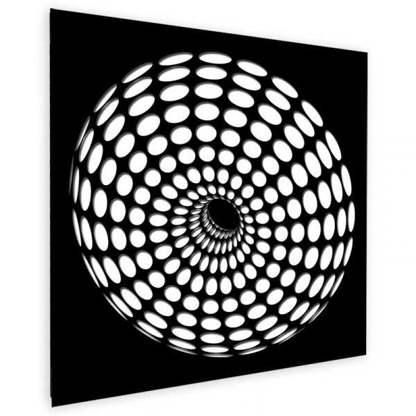 Donut-black-white-geometricarte-carlos-marcano