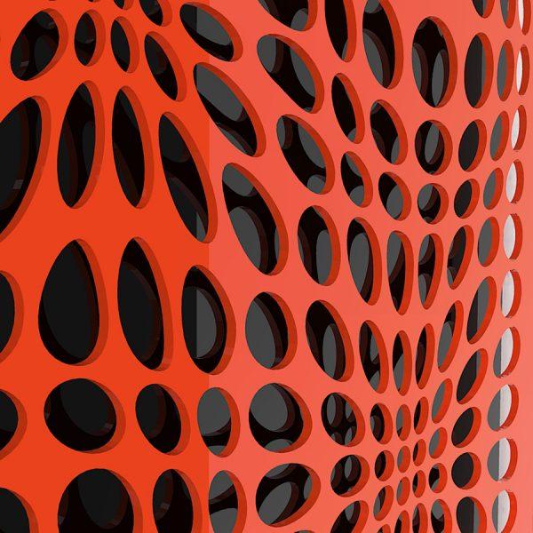 IN & OUT ORANGE-BLACK-geometricarte-carlos-marcano