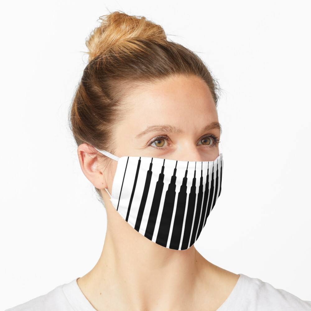 Mascarilla square lines black