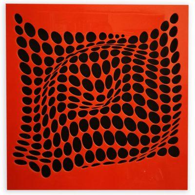 Come-Inside-Orange-black-3-geometricarte-carlos-marcano